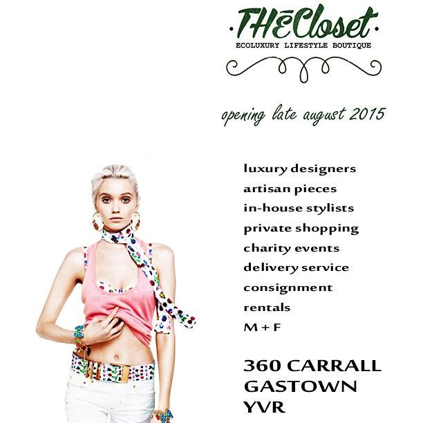 Have you checked out Vancouver's newest EcoLuxury Lifestyle Boutique @THEClosetYVR http://t.co/KLWPjYopPE