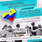 ¡SIN FRONTERAS! #Tachira toma las calles HOY #5Sep en apoyo a nuestros hermanos de Colombia ¡DIFUNDE Y ASISTE! http://t.co/qpC1cWiaqz