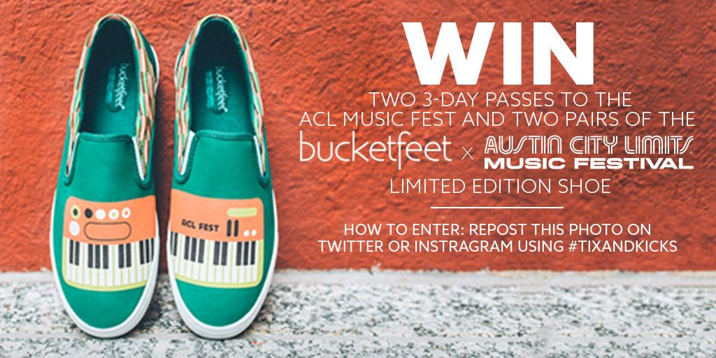 We partnered with @aclfestival again to give away passes and #BucketFeet. Just RT to WIN. http://t.co/YMmzpLhsrt