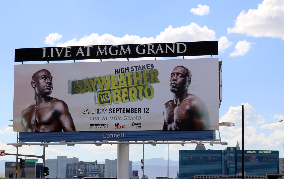 Andre Berto (@AndreBerto): Grinded like never before in this camp, ready to do this one week from today... #MayweatherBerto #HighStakes http://t.co/53DAeDWiEq