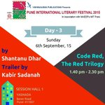 RT @PuneIntLitFest: 'Code Red, The Red Trilogy' by @ardhendubose trailer by Kabir Sadana and launched by @satishkaushik2 #PILF2015 #Pune ht…