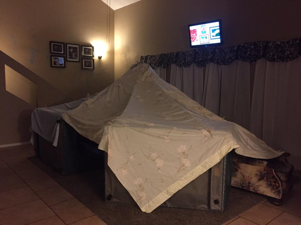 Daddy built a homemade circus tent in living room. Saturday & Mommyu0027s out of town. daddy built a homemade circus tent in living ...