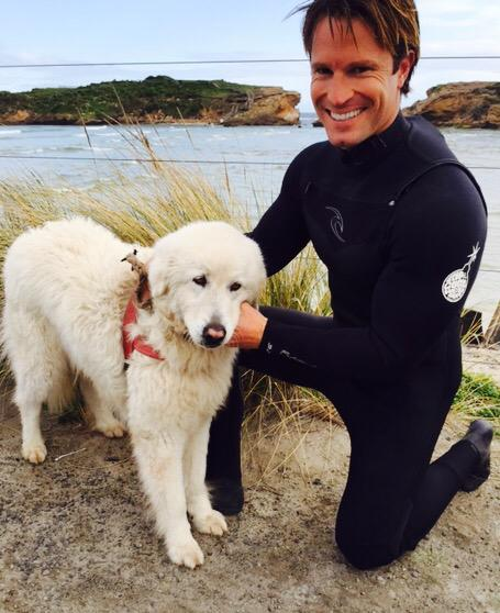 If you have to cross a stretch of ocean in a Victorian winter.. Take a sheepdog jetski.. @ripcurl @sundaynighton7 http://t.co/t60RTnVBwa