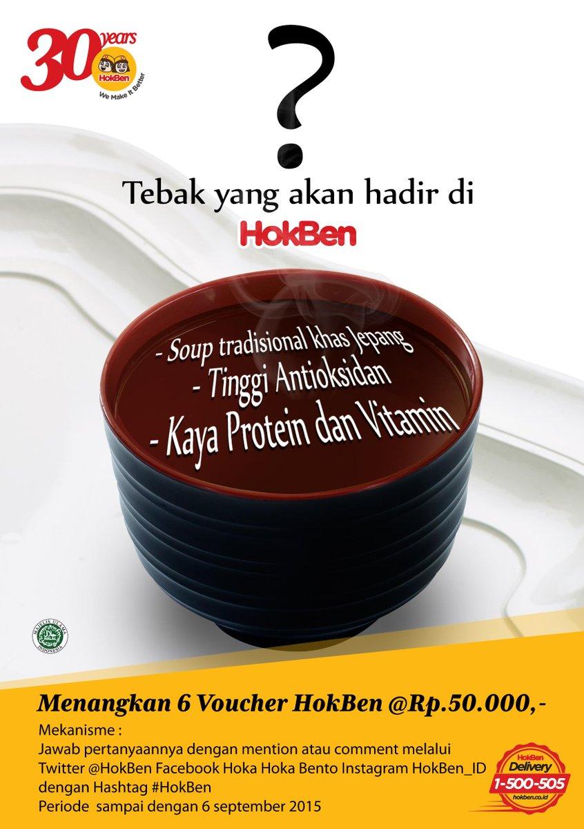 Tebak yang akan hadir di HokBen ? dan dapatkan Voucher HokBen, Keputusan juri mutlak ya, Info lengkap lihat gambar : http://t.co/dQKsLmGCT5