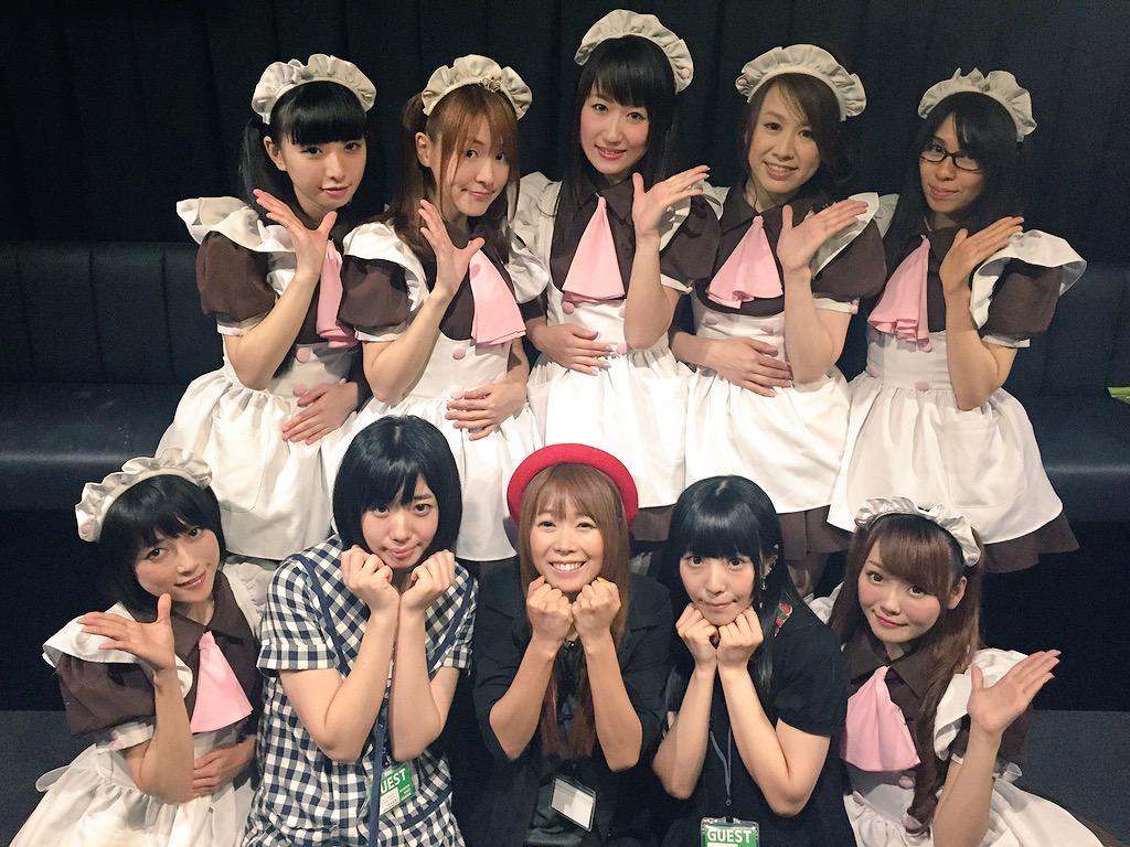 完全メイド宣言LIVEにでんぱ組.incの夢眠ねむちゃん、成瀬瑛美ちゃん、相沢梨紗ちゃんが観に来てくれました