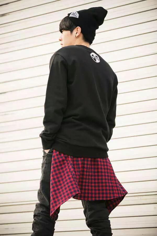 韓国 ファッション 黒 メンズ
