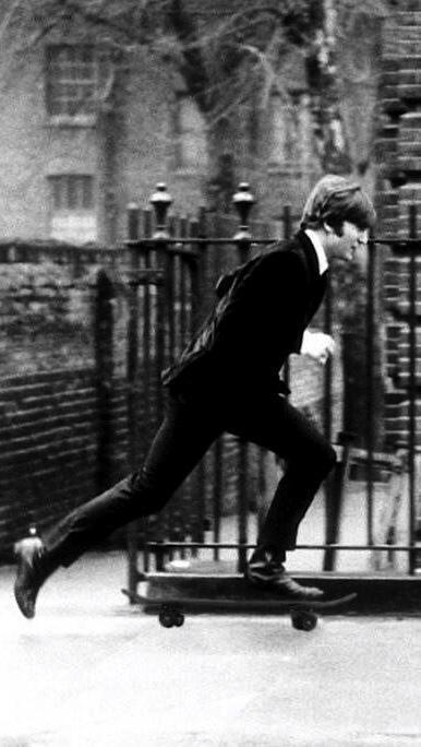 John Lennon skateboarding. http://t.co/qA7FO3AbeY