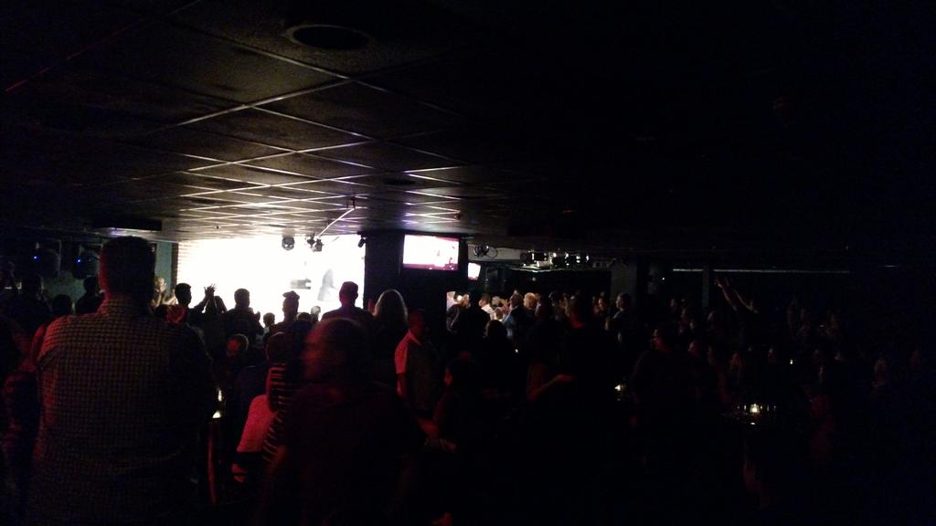 Standing ovation after 1st show tonight @fluffyguy @Martincomic @comicrick! #LaborDay #dcimprov http://t.co/RFdfV3AtvG