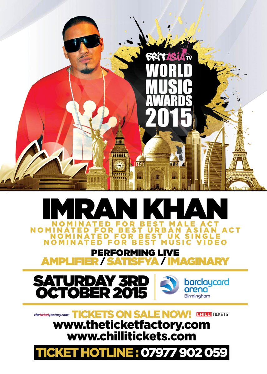 BAWMA2015 - Performing on the Night: @Imrankhanworld Book tickets now http://t.co/3caLDs18Wx http://t.co/RJKr7nrcEA