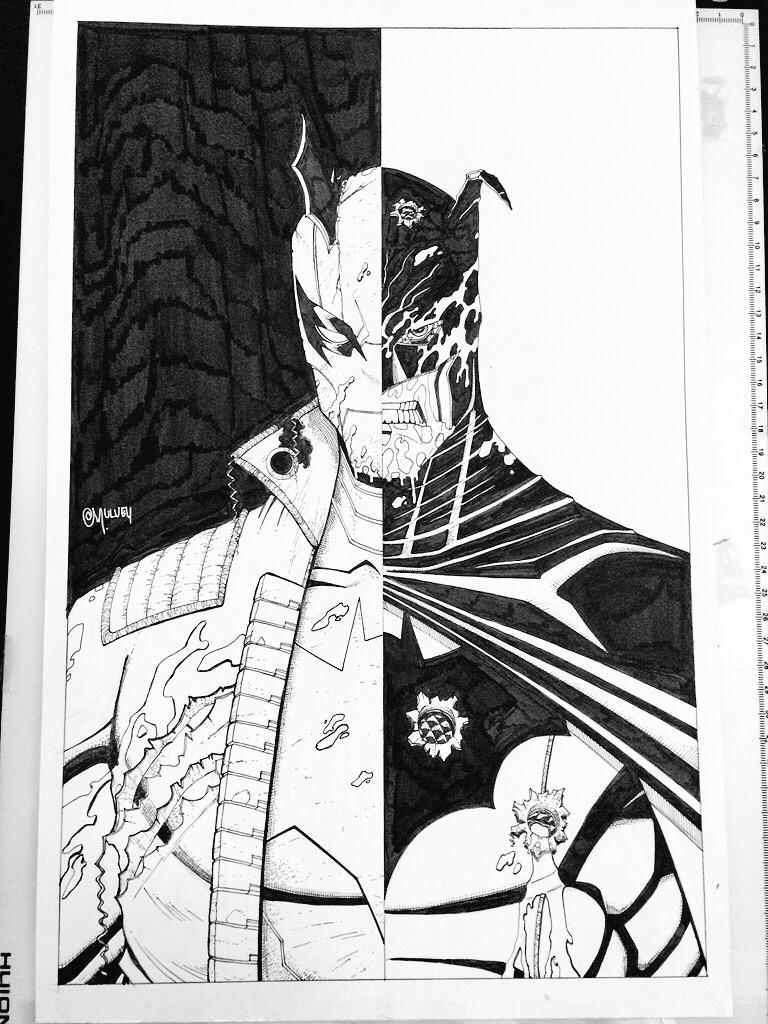 Want this REDHOOD/Batman piece? TODAY is the day. http://t.co/qQjaQZzH5n auction to benefit @LGwenn http://t.co/0qgQGieFCK