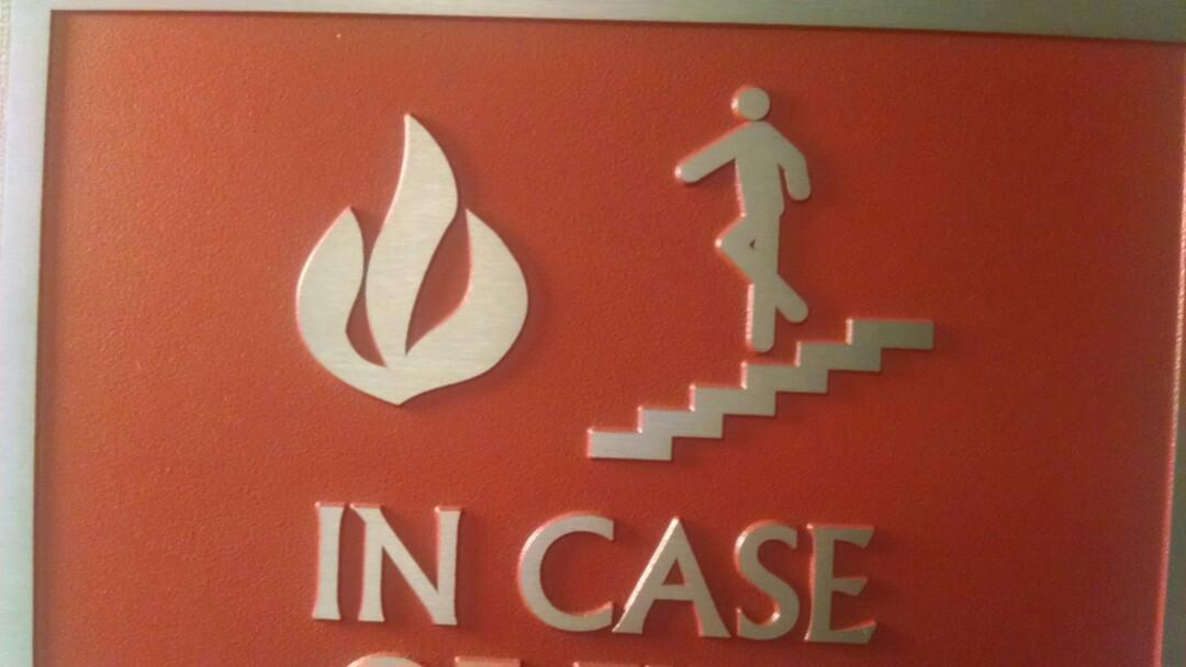 In case of fire, do an Irish jig on the stairs in the direction of the fire. http://t.co/v4TSk5jRhk