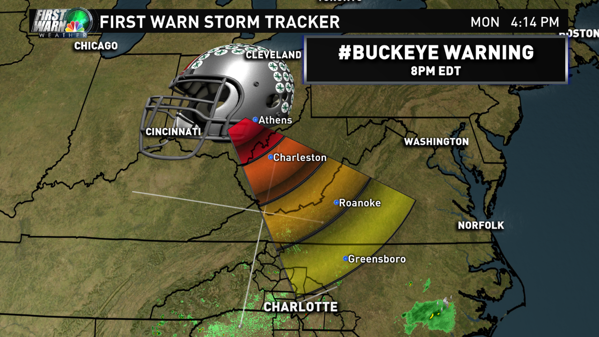 Haha! Well played. RT @wxbrad: Been tracking this storm since last year, time of arrival 8pm. #GoBucks #BuckeyeNation http://t.co/1KNjGTabK9