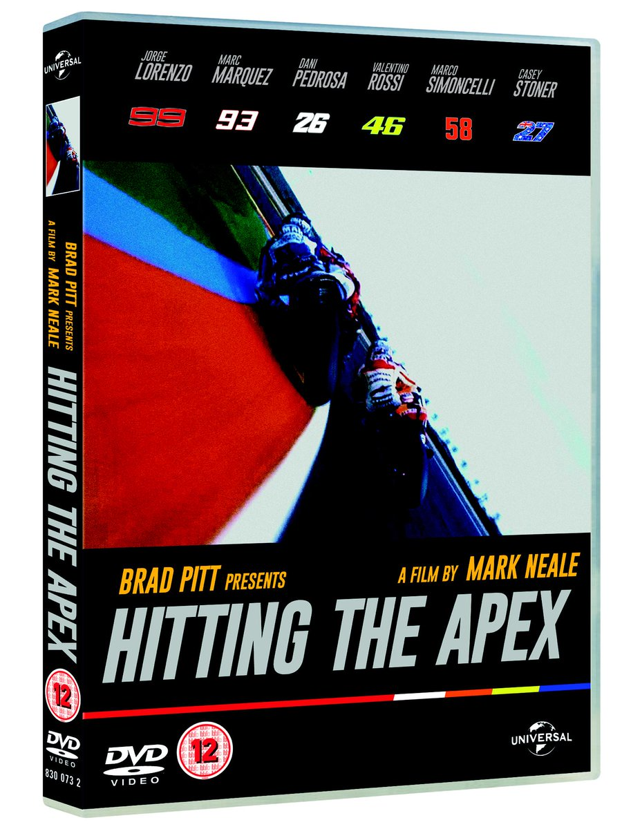 Competition!  2x 'Hitting The Apex' DVDs + 2x signed posters by VR46, JL99, MM93 & DP26.  Winners chosen from RTs