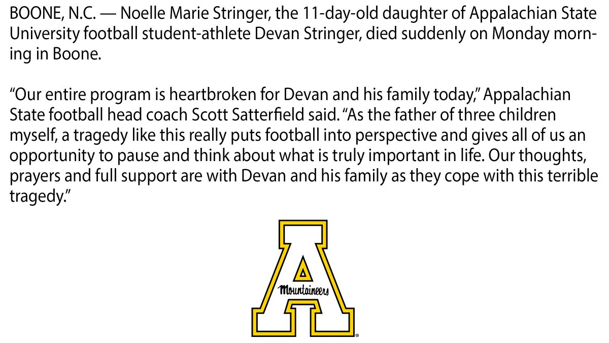 Heartbroken for @AppState_FB's Devan Stringer and his family and friends. http://t.co/kcjeRTTzmG