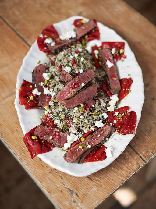 Griddled steak & peppers Herby jewelled tabbouleh rice  http://t.co/hy5BsP1OPx #JamiesSuperFood #Dinner http://t.co/Bd2A1klZLn
