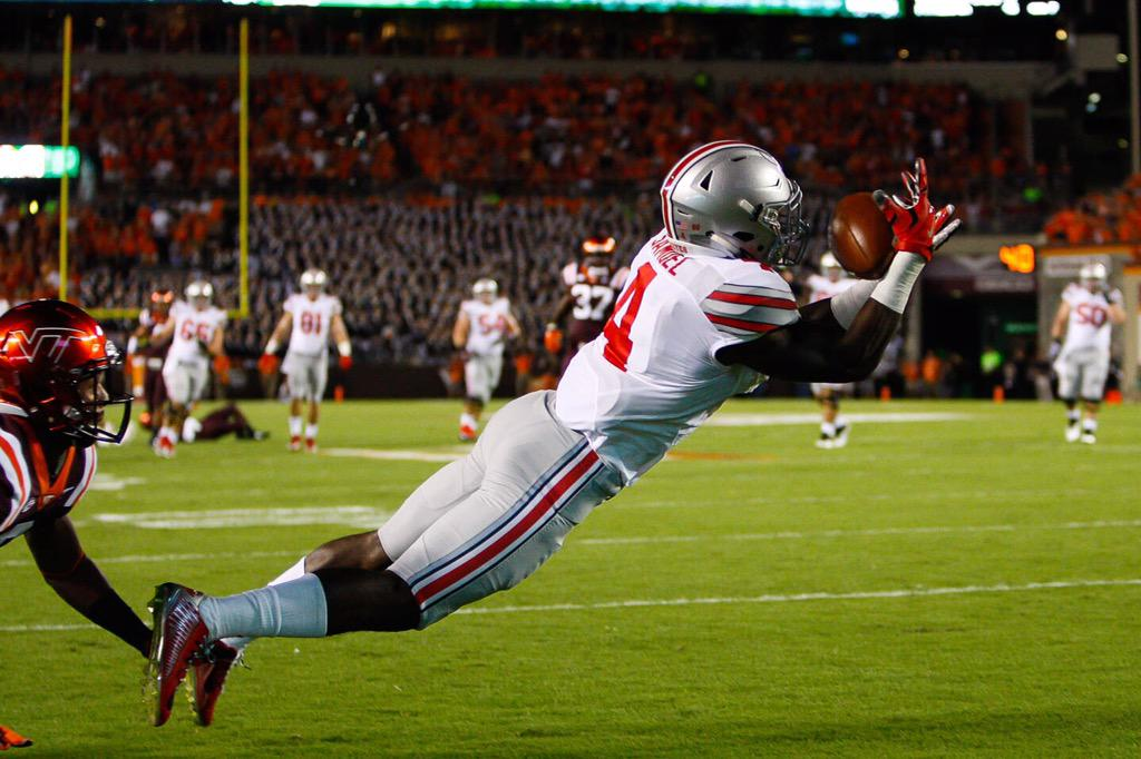 The first Buckeye touchdown of the season. #GoBucks http://t.co/1hdJKhyOP8