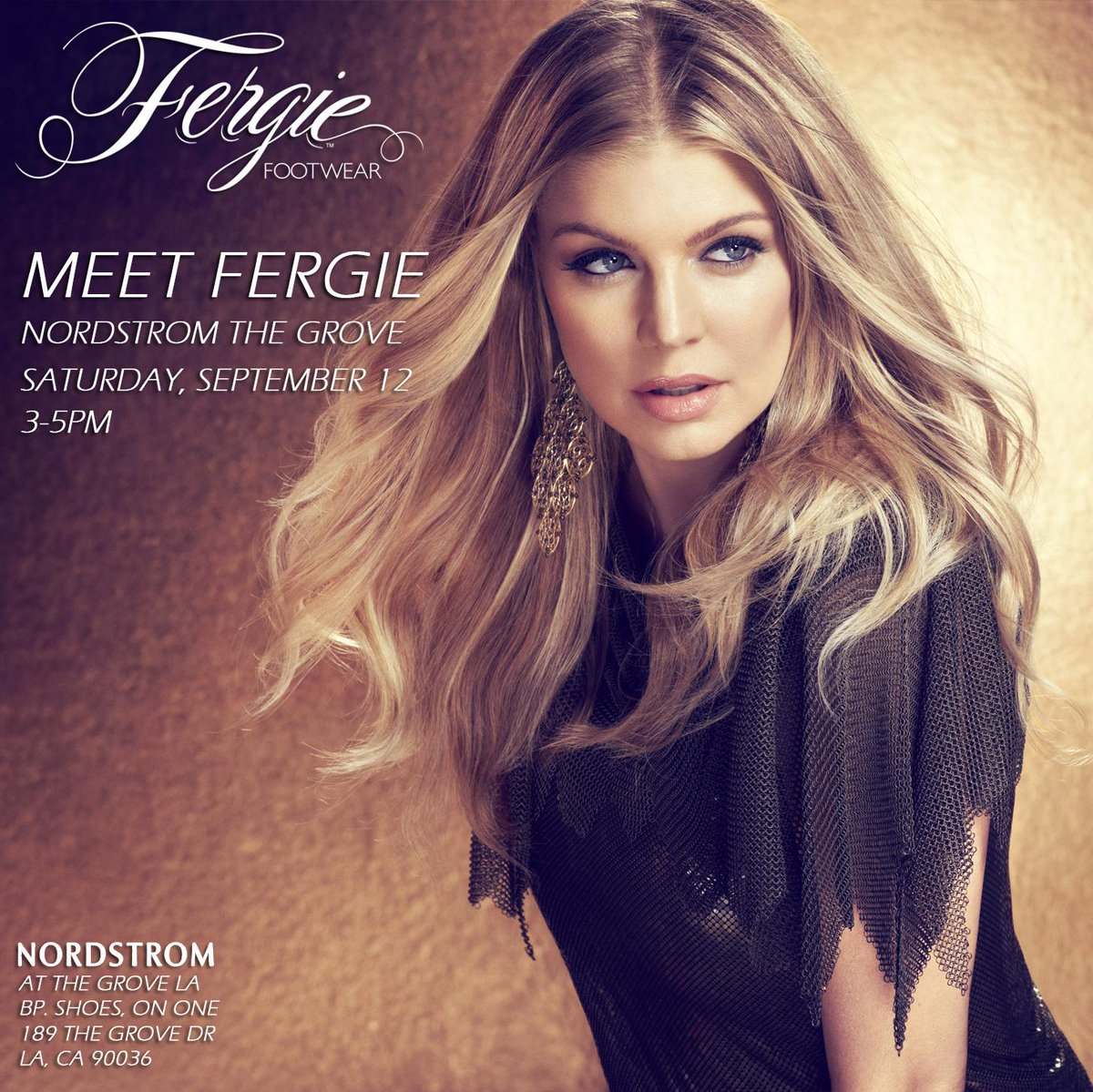 RT @FergieFootwear: ????9/12 Meet @Fergie 3-5pm at @Nordstrom @TheGroveLA! W/ yr purchase u'll get 2 meet #Fergie & receive a signed photo. ht…