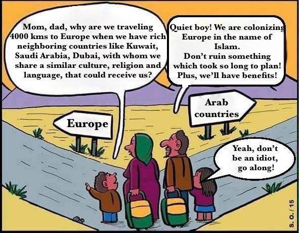 The EU Muslim migrant problem completely explained in one photo #Muslims #Islam http://t.co/oKWT6to2A9 http://t.co/3aXp10YbW5