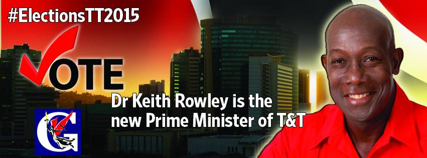 Dr Keith Rowley is the new Prime Minster elect of the Republic of Trinidad and Tobago. #GMLElectionCentral http://t.co/kUUlNP53kt
