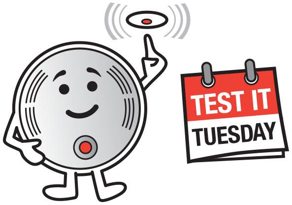 Test your smoke alarms today, and remind your friends and family to test their alarms too #TestItTuesday http://t.co/MNpfz3uvGI