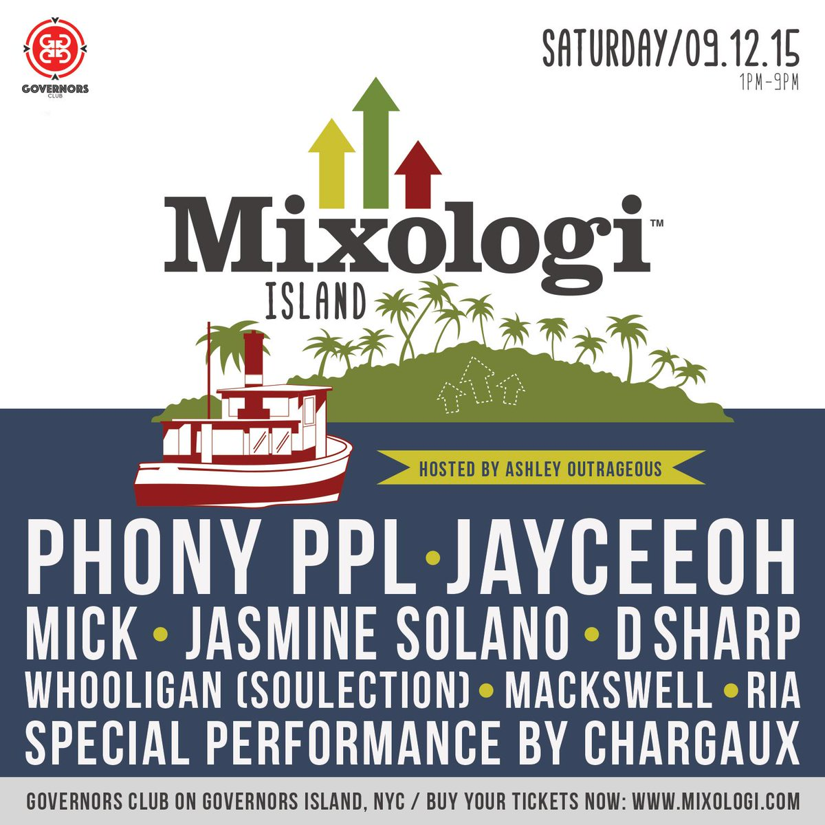 NYC this Sat! @Mixologi mini fest on Gov Island is happening! Tix here: http://t.co/JbeSzF7ZkZ // Line up is mad: http://t.co/ZpbPT4EyiP