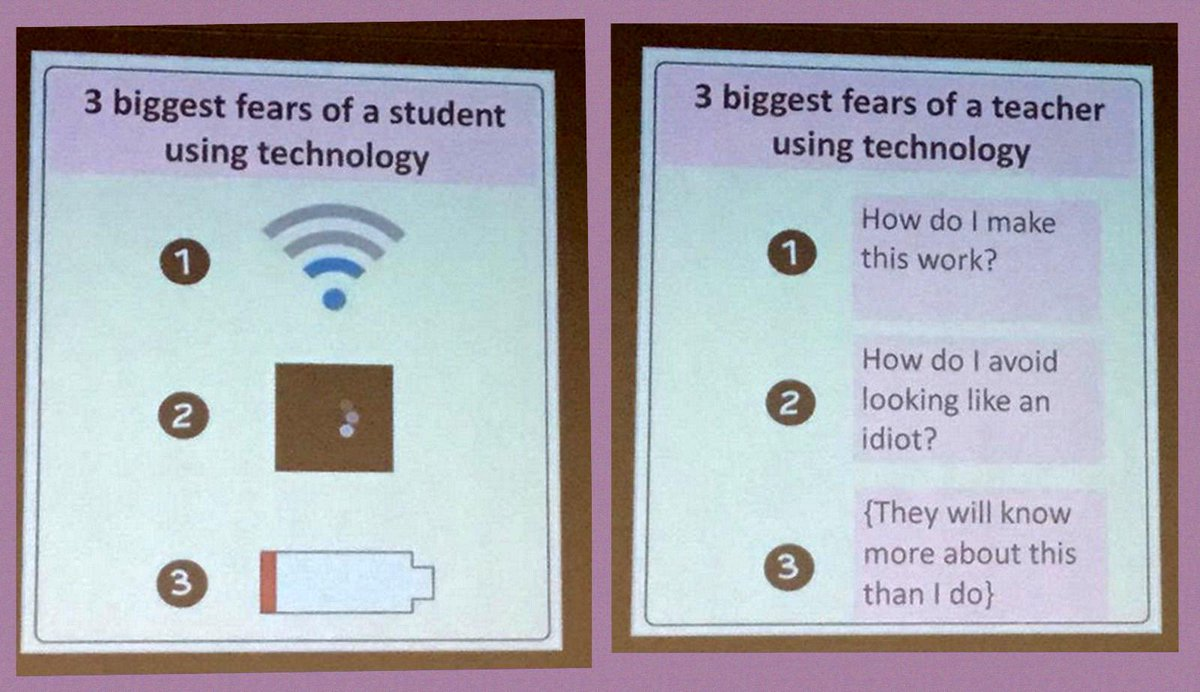 Difference between teachers and students fears of technology via @timbuckteeth keynote @cel_bu #altc http://t.co/Tsgcp1mELb