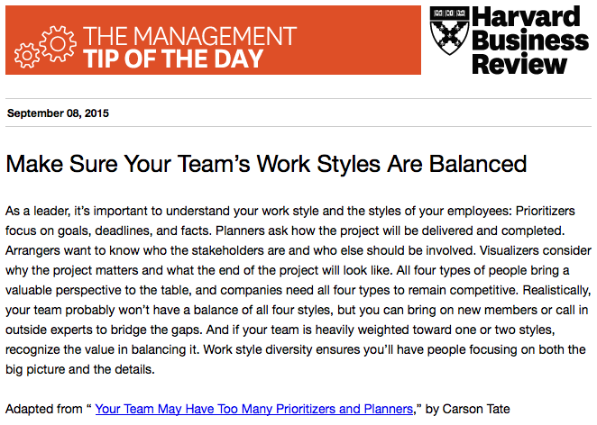 Today's management tip: Create a balanced team http://t.co/sDCPilkjUO