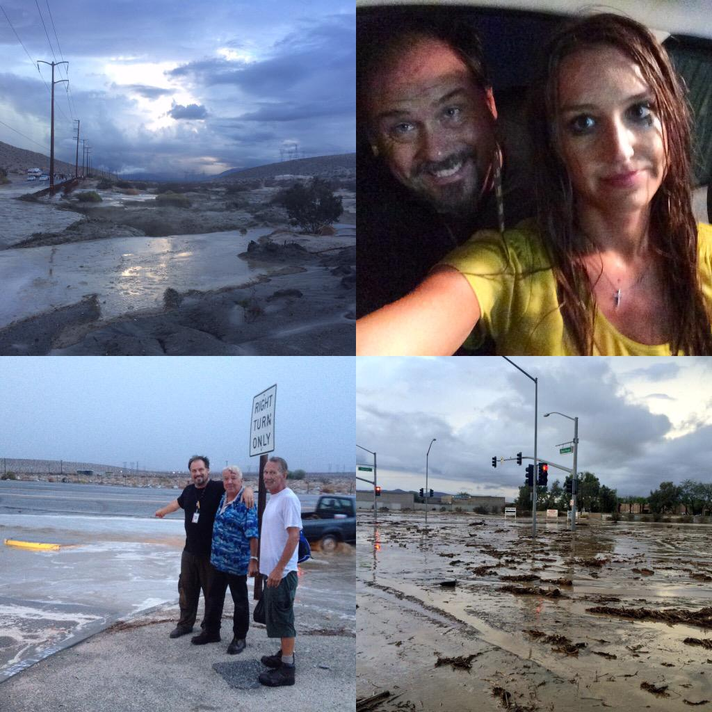 """The only news team live as the """"700 Year Storm"""" hit one year ago today. Share your photos & memories from that day. http://t.co/V9OPpnQckq"""