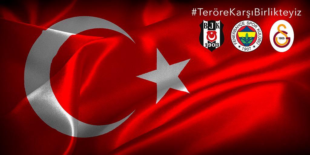 Ülkemizdeki bu acı günlerin son bulması adına #TeröreKarşıBirlikteyiz @Besiktas @Fenerbahce http://t.co/rshFMOeRFU