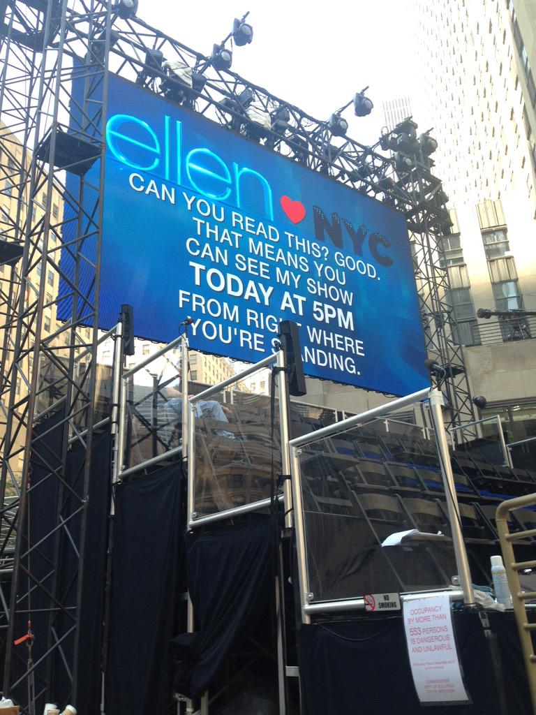 Breaking news on the ellen degeneres show - Ellen show new york ...