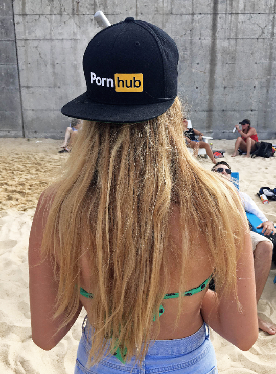 On the beach repping Pornhub #pornhubswag http://t.co/HE0jIlod9f