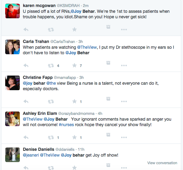 Yo @joyvbehar just FYI there are a number of people tweeting at me who are very mad at you. http://t.co/ecCBEqRHZ2