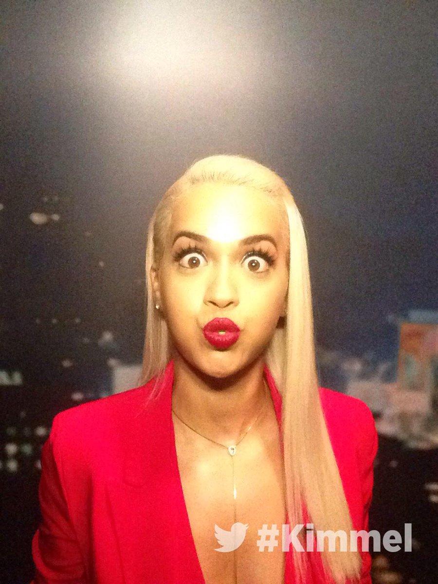 RT @JimmyKimmelLive: Backstage at #Kimmel. NEW show tonight with @RitaOra #BodyOnMe. 11:35 10:35c #ABC http://t.co/LRNHhk2Jf7