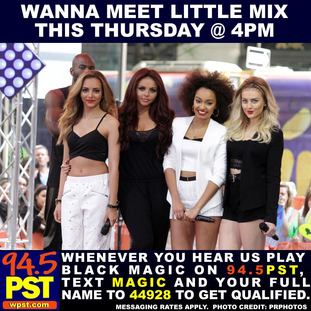 @LittleMix we can't wait to meet u on Thursday #meetlittlemix #pstnation #BlackMagic http://t.co/wlKOldTrWk
