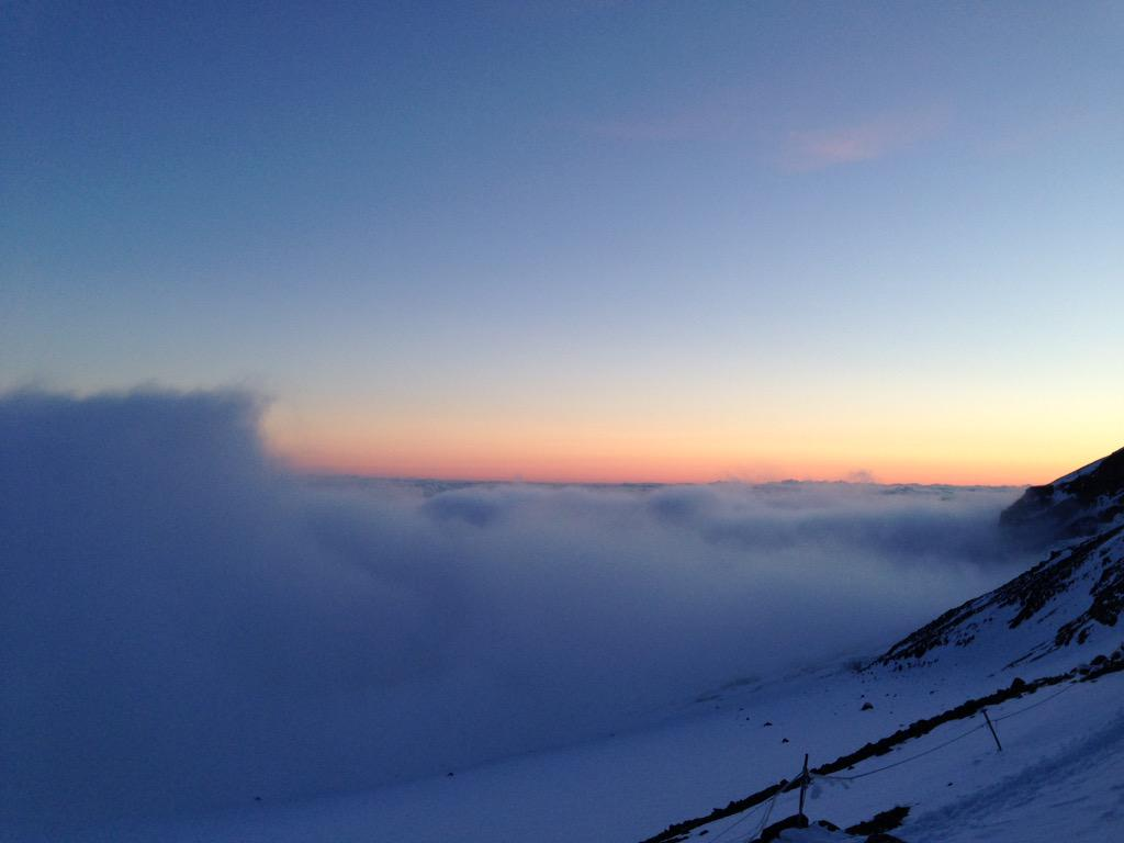 Incredible view from Camp Muir on #rainier. #avalanche conditions means no summit. But hard to complain