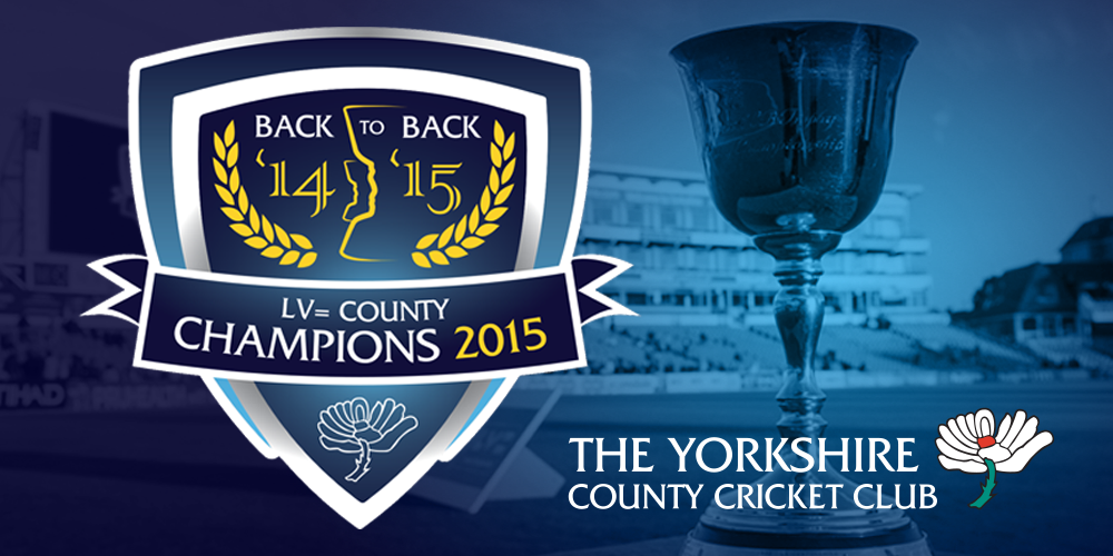 #CHAMPIONS!: #Yorkshire are @LV_Cricket County Champions 2015! Back-to-back #Championships 1st time since 1968. http://t.co/to4Byli1VU