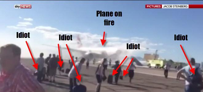 I saw the report for the scary #BA2276 plane fire earlier and this thought occurred to me. Unbelievable! http://t.co/f0419rQws9