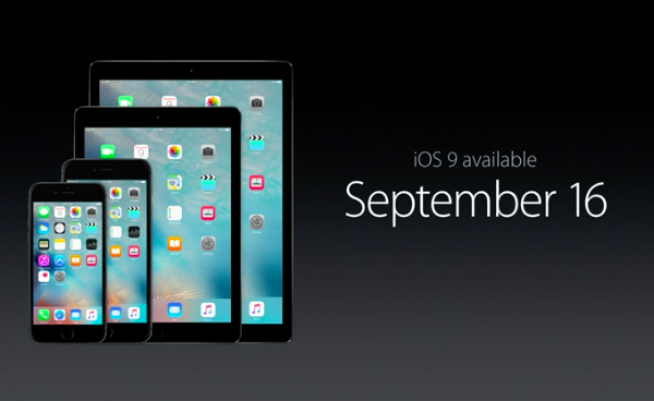 iOS 9 will be available to download on 16th September. #AppleEvent http://t.co/qlGwE780V4
