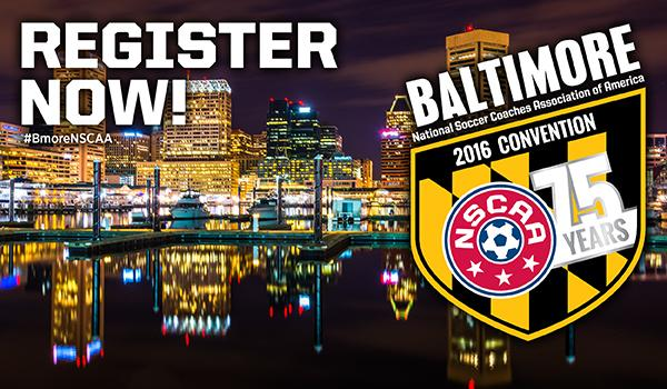 Join 10,000 of your soccer peers at the 2016 NSCAA Convention, January 13-17! http://t.co/7YlKCCHV4u #BmoreNSCAA http://t.co/dZOAsKEpg9