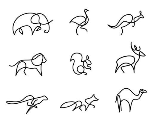 Splendid minimalism. One line Animal logos by Differantly Studio. https://t.co/hscgdPj2az http://t.co/Dmp1LU6IFd