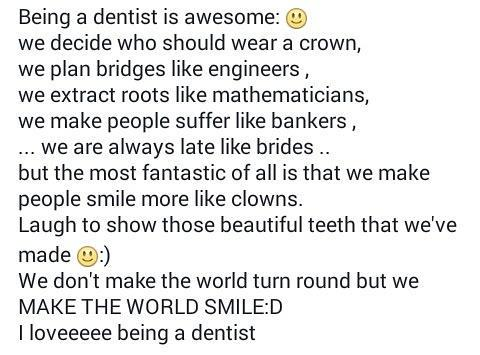 Being a #dentist is awesome http://t.co/NxW5EL6DZP