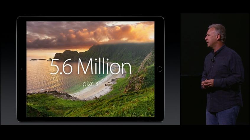 L'avantage de cet écran 5,6 millions de pixels : permettre l'exécution d'Apps #iPad Air côte à côte. #AppleEvent http://t.co/Own4WHcTO0