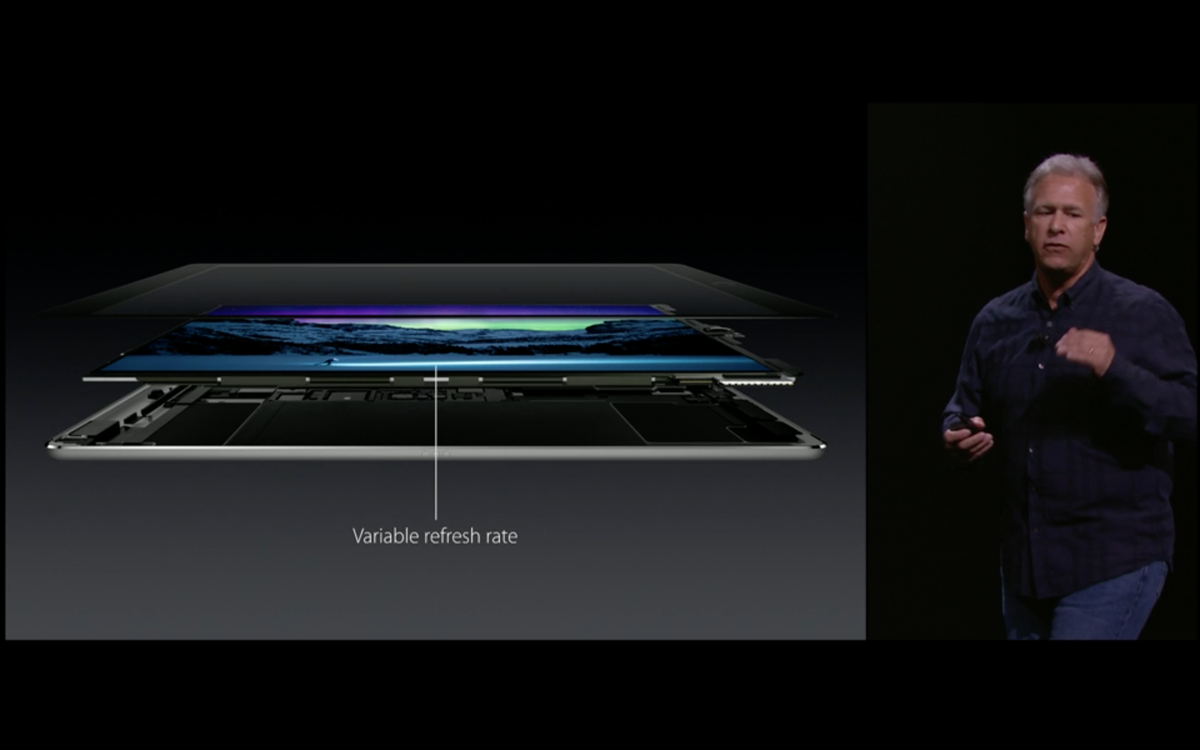 """""""Most advanced screen we've ever build"""" - Phil Schiller on iPadPro #AppleEvent http://t.co/YkRyC5ThYv"""