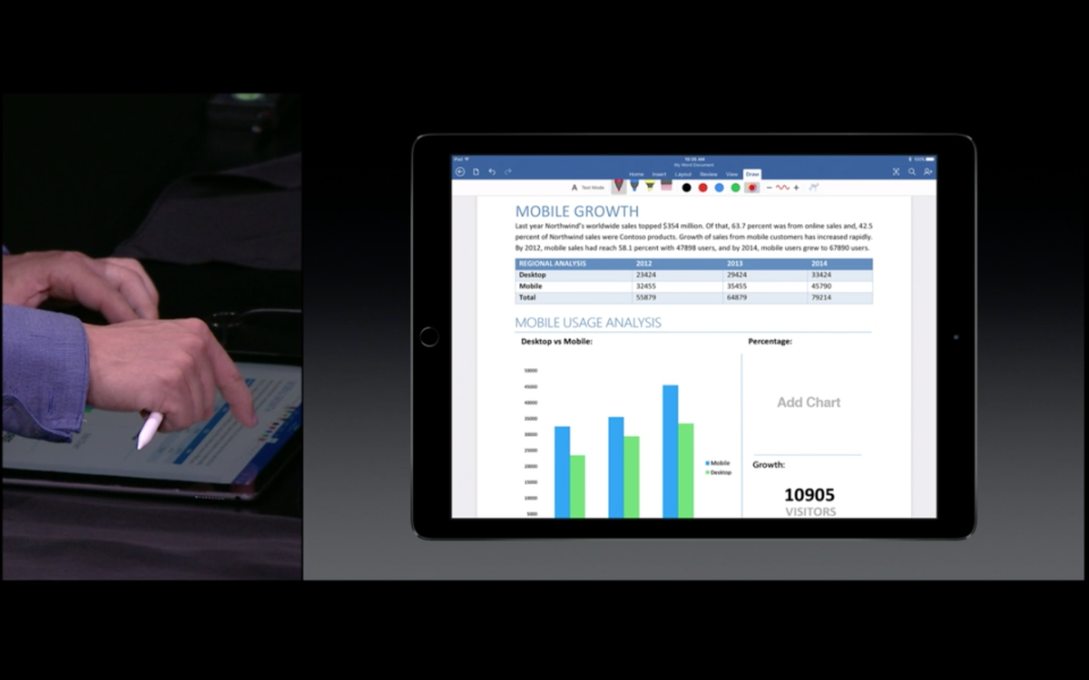Office on iPadPro looks REALLY good! #AppleEvent http://t.co/5N7CD8TA0h