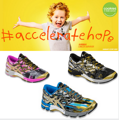 Have you bought your @ASICSamerica sneakers? They are the only shoes dedicated to #childhoodcancer research! http://t.co/Wlk7F0AvV0