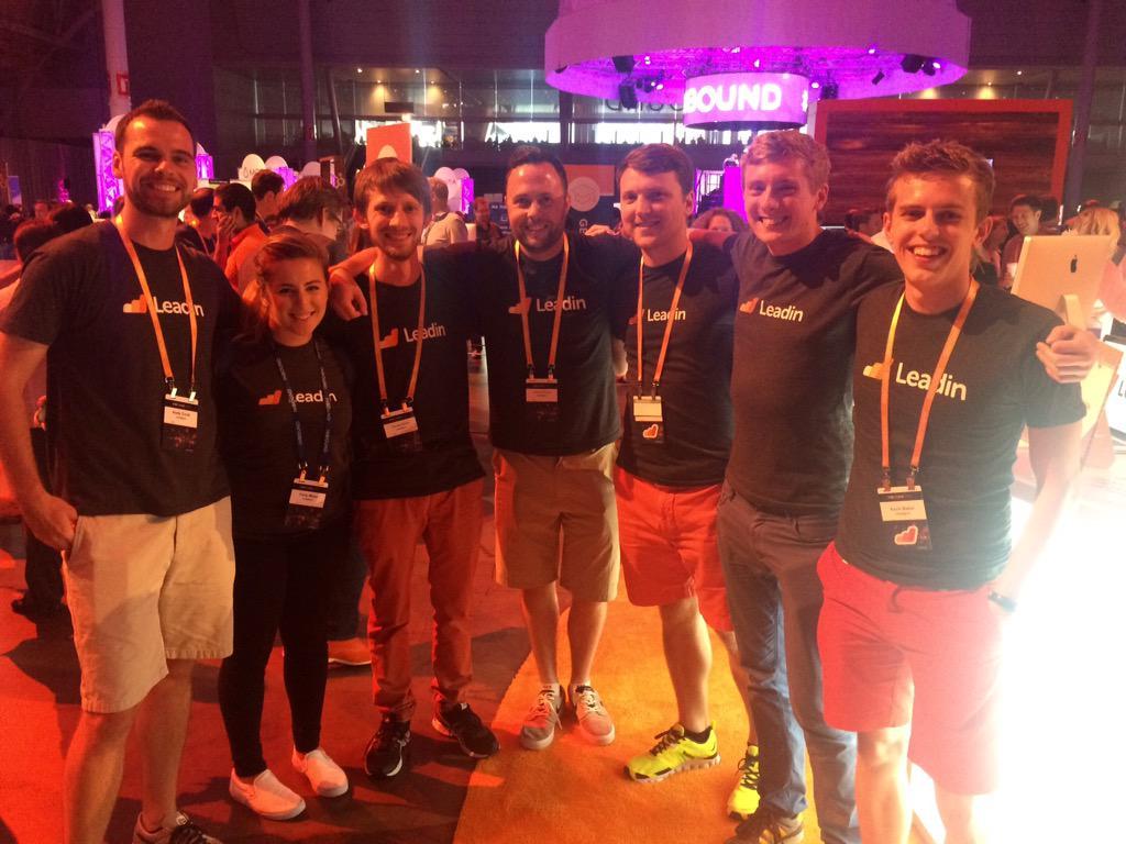 The amazing @LeadinApp team! #INBOUND15 http://t.co/48BUCazhqD
