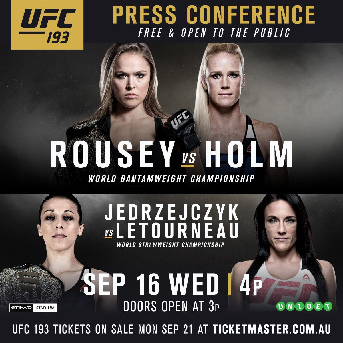 Join us at the #UFC193 Press Conference on September 16 at @EtihadStadiumAU.  REGISTER: http://t.co/uszPcqpAsr http://t.co/Noo8Hz6Yuj