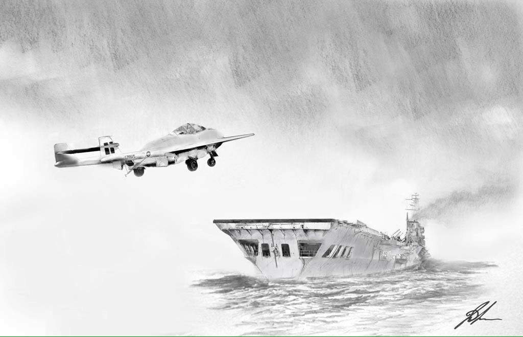 Eric 'Wilkle' Brown made the 1st jet landing on an aircraft carrier in 1946. Hopefully nxt W/E he will sign it 4 me http://t.co/J7QrgvNQkO