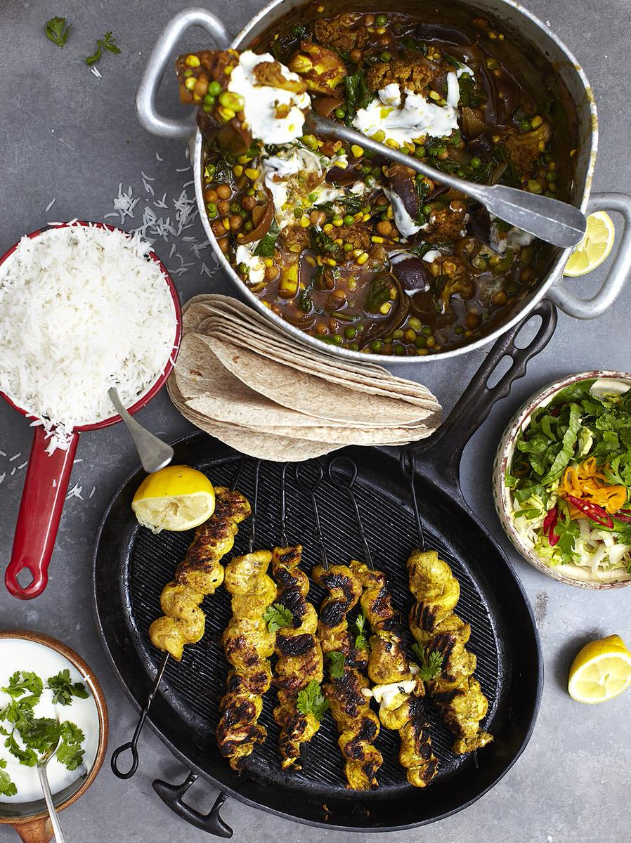 #Recipeoftheday Roasted veg vindaloo with golden gnarly chicken skewers. Happy Friday guys! http://t.co/t75hGxCI2s http://t.co/DdsSlwD1rl