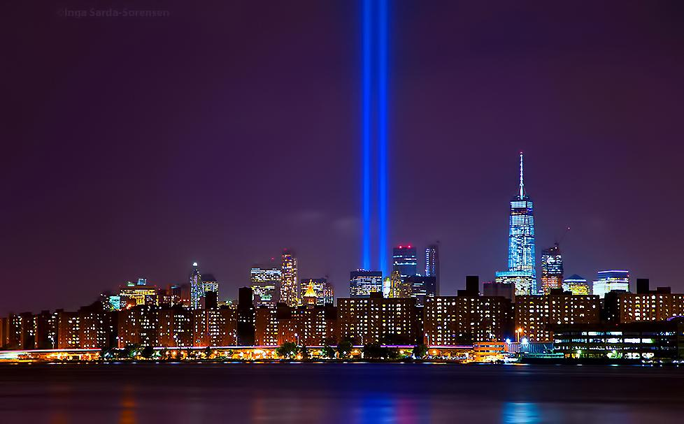 World Trade Center Tribute Lights Lit In Manhattan Ahead Of 14th  Anniversary Of Sep. 11th